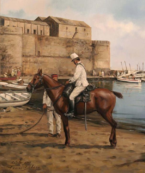 Lusitania en Melilla, obra de Augusto Ferrer-Dalmau