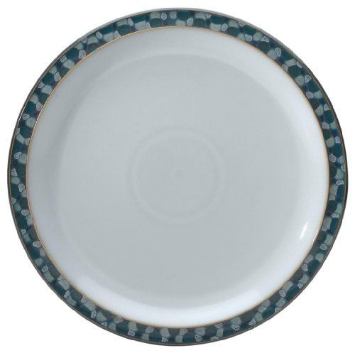 Denby Azure Shell Dinner Plate, Set of 4 by Denby. $159.95. Dinner plate, set of 4. Material: stoneware. Each piece of pottery is painstakingly glazed by skilled craftsman. Strong, durable and chip-resistant. Dishwasher, microwave, oven and freezer safe. Azure is reminiscent of warm summers and indulging in exciting fresh food. This pattern combines a unique turquoise glaze with fresh white, a truly timeless collection that reveals a clean and cool look. Azure Coast and A...