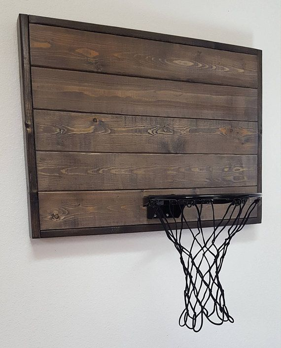 Indoor Basketball Never Looked So Good Weve Taken Our Classic Weathered Gray Wood Basketball Hoop And Added A Grey Wood Indoor Basketball Hoop Basketball Rim