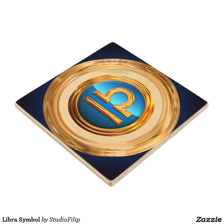 Libra Symbol Wood Coaster | 30% OFF Spooktacular Essentials: coasters, favor boxes, wine charms, serving trays, posters, tablecloths, table runners, plates, platters, packs of cake pops, packs of cookies, chocolate boxes, frosting rounds, invitations, greeting cards, photo cards, postcards, and/or cheese boards - USE Code ZSPOOKYSCARY | 15% Off All Other Zazzle Products. | Valid through October 8, 2015 at 12:59:59 PM PT