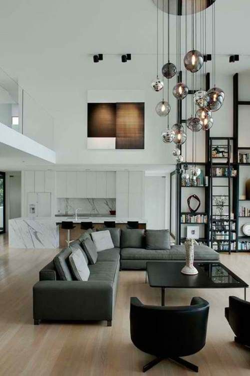 Living room/kitchen space by Daniel Marshall.