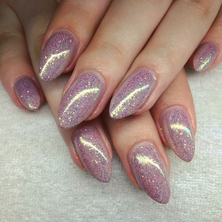 CND Shellac Field Fox and Lecente Golden White Iridescent Glitter