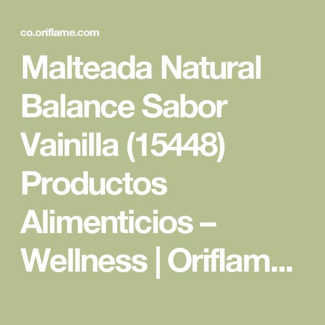 Malteada Natural Balance Sabor Vainilla (15448) Productos Alimenticios – Wellness | Oriflame cosmetics