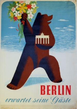 Berlin, 1956 travel poster