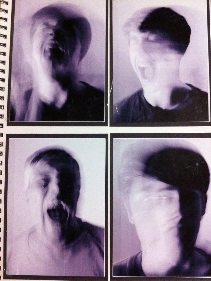 The long exposure in these images has created the look of the person in the image's feelings falling apart.