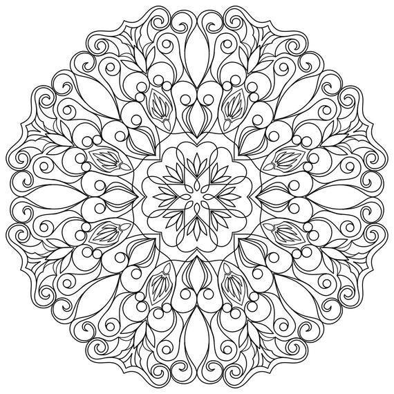 Mandala Ausmalen Muster Malvorlagen