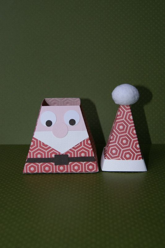 boite p re noel ouverte box cr ative pinterest. Black Bedroom Furniture Sets. Home Design Ideas