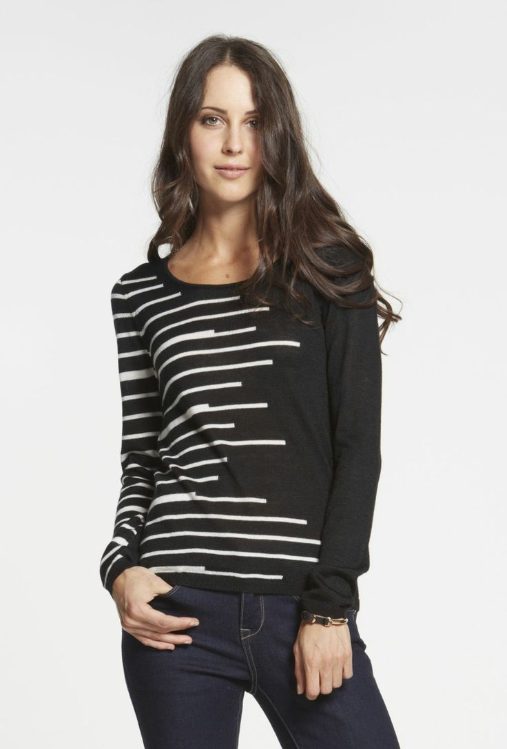 Mismatched Stripe Sweater $99