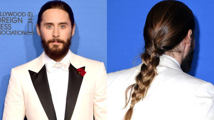 The Oscar winner brings a new trend, the man-braid, to the Golden Globes.: