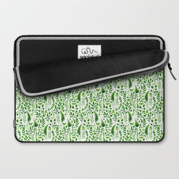 Flora and Fauna seamless pattern Laptop Sleeve by Erika Biro | Society6