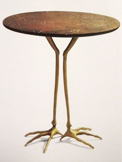 "Mret Oppenheim ""Table with Birds Legs"" 1939"