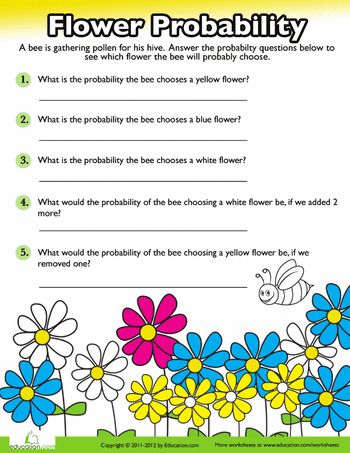 Worksheets: Probability Practice: Flowers