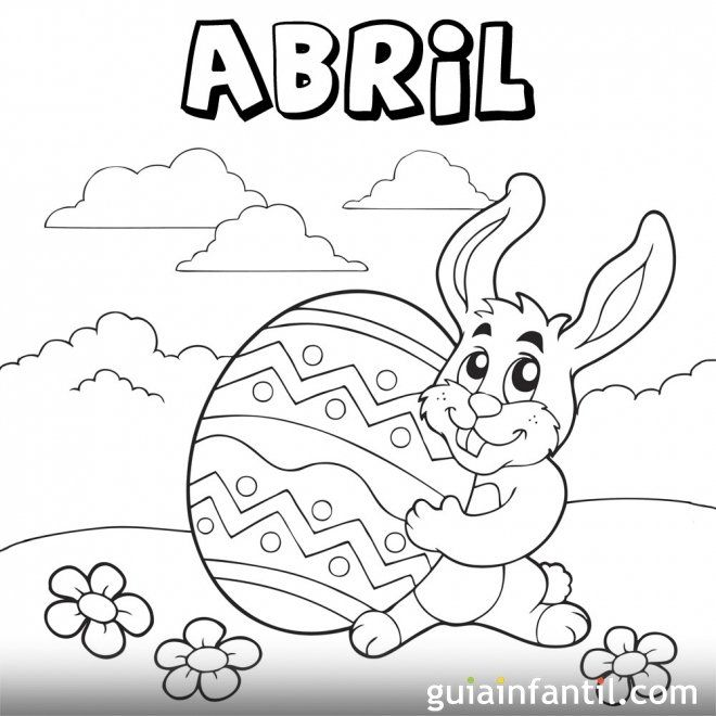 Https Www Guiainfantil Com Mes De Abril De 2013 Para Colorear Pascua Para Colorear Caratulas Escolares Dibujo De Bebé