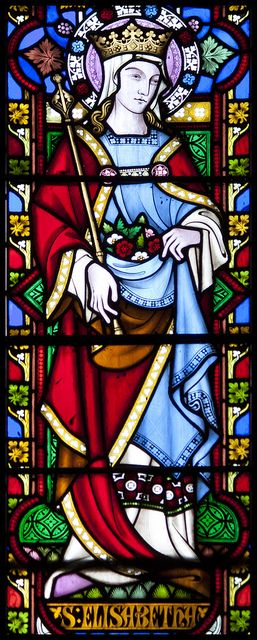 St Elizabeth of Hungary by Lawrence OP on Flickr. Via Flickr: St Elizabeth, whose feast is today, was a daughter of the King of Hungary who lived in the early 13th-century. She was given in marriage to Ludwig, the Landgrave of Thuringia, by whom she...