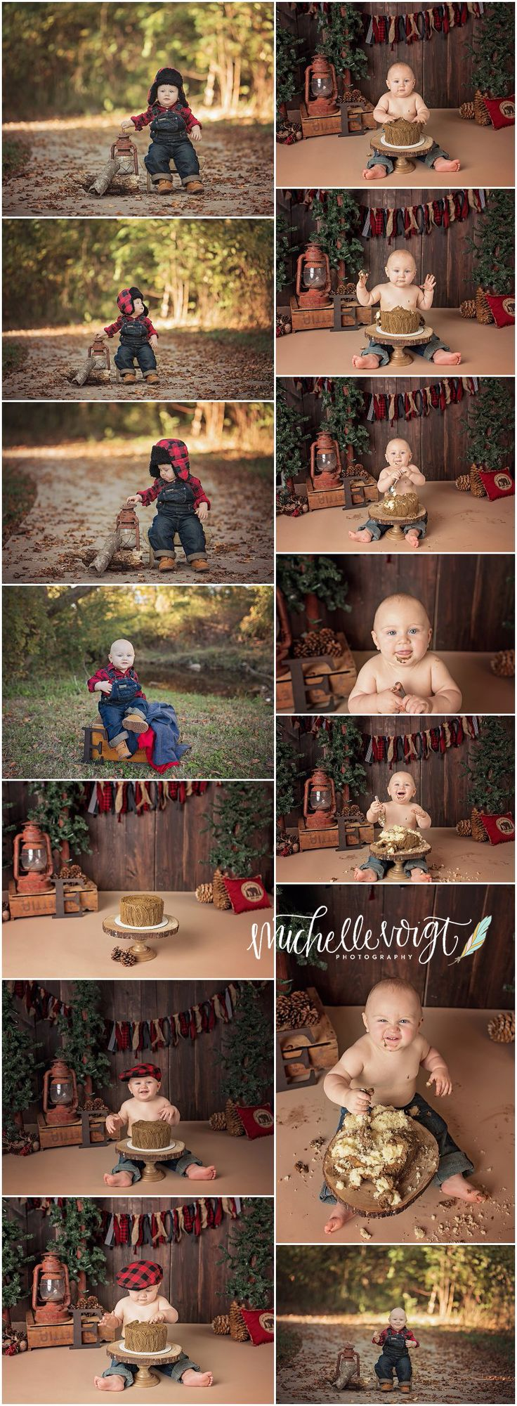 Michelle Voigt Photography  - Cake Smash Bryan/ College Station Photographer  Cake Smash Themes Lumber Jack  #mvoigtphoto #cakesmash