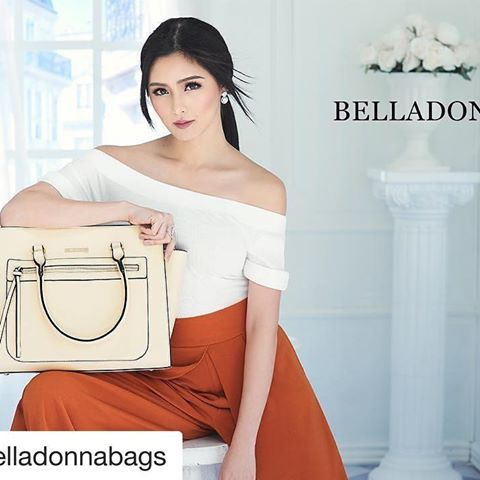 #Repost @belladonnabags with @repostapp  ・・・  Stay classy and beautiful !  @chinitaprincess    #KimChiuforBelladonna  #BelladonnaBags   #KimChiu