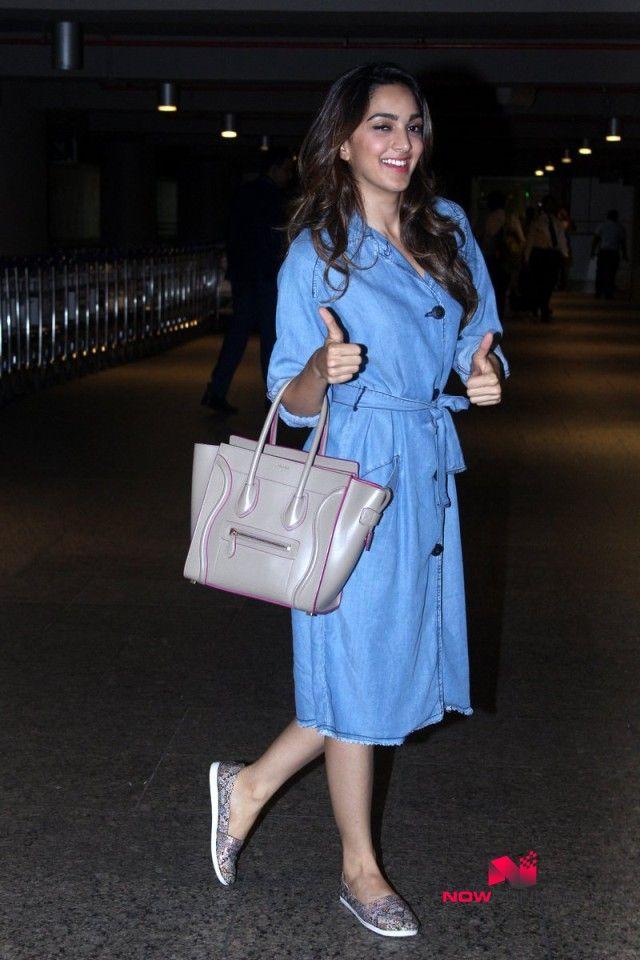 Kiara Advani snapped at the domestic airport