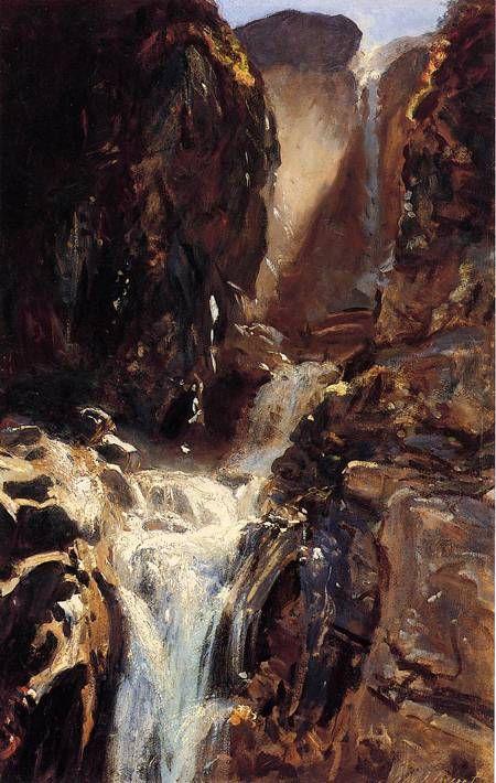 A Waterfall 1910 John Singer Sargent