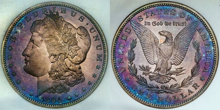Wow! Look at this stunning 1894-P Morgan $1 Superb NGC PF68. Astonishing! http://www.collectorscorner.com/Products/Item.aspx?id=18501304. #Wow #Astonishing #Beautiful #Colorful #Morgan #Dollar #Toned #ForSale #Blue #Purple #Superb #Silver #WorldOfColor #Awesome #Condition #HighQuality #Numismatic #Coin