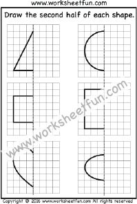 Draw the other half – One Worksheet