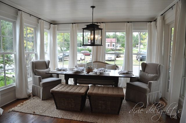 21 best window treatments for sunrooms images on pinterest for Sunroom breakfast nook