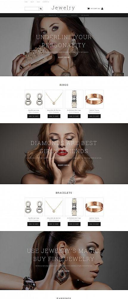 JEWELRY - #jewelry #accessories   #responsive  MotoCMS #ecommerce  #template