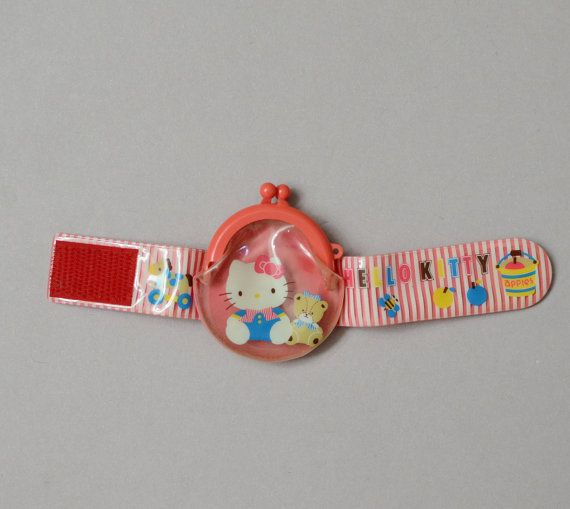 fcee6411656 Vintage Hello Kitty Coin Bracelet Wrist Bag 1988   Coin bracelet, Hello  kitty and Kitty