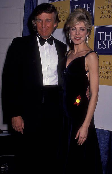 Donald Trump and Marla Trump attend First Annual American Sports ESPY Awards on March 4 1993 at the Paramount Theater in New York City