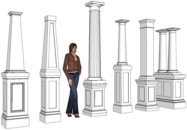 Pvc column wraps tapered columns column covers decks for Wrap around porch columns