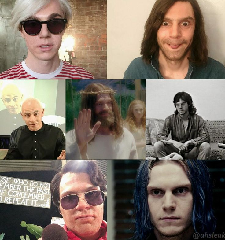 NEW | The incredibly Versatile Evan Peters and all his AHS Personas. Follow rickysturn/evan-peters