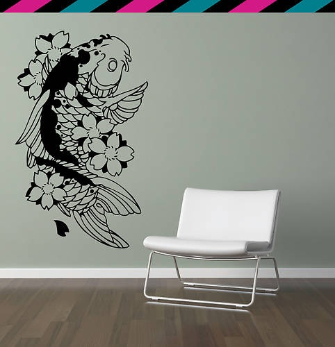 ... Nightmare Before Christmas Lamp. See More. Koi Fish Cherry Blossom Wall  Decal Sticker Diecut | EBay