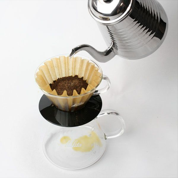 The Kalita system makes pourover brewing easy and produces an excellent cup of coffee.