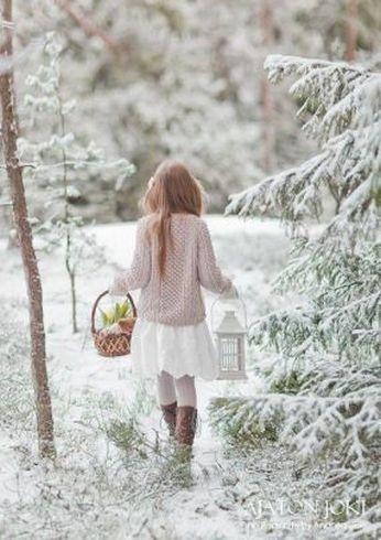lány télen