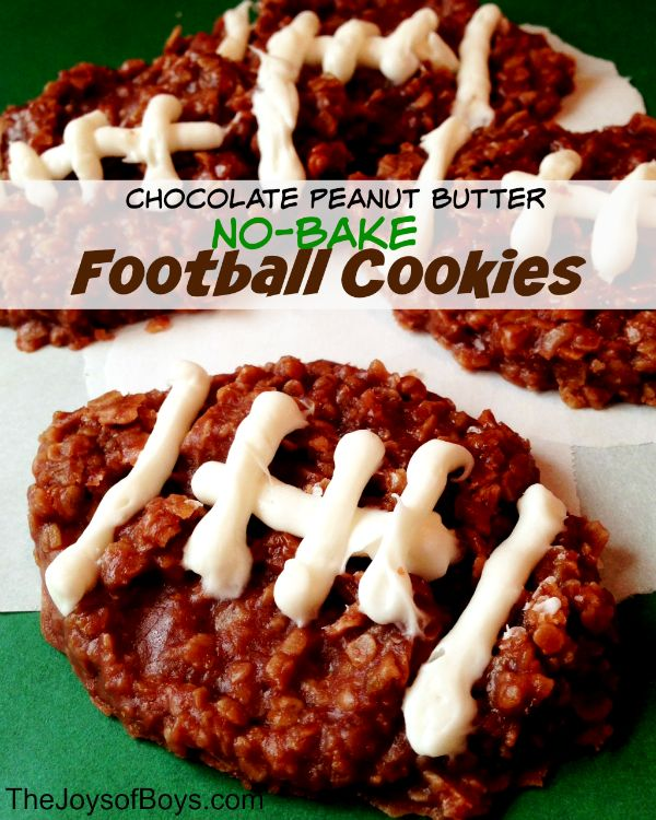 Football season is here! These No-Bake Football Cookies are sure to score a touchdown at any tailgating party!