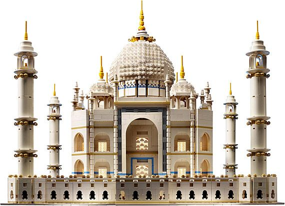 The largest commercial LEGO set is that of the Taj Mahal, with 5,922 individual pieces. | 20 Things You Might Not Know About LEGO