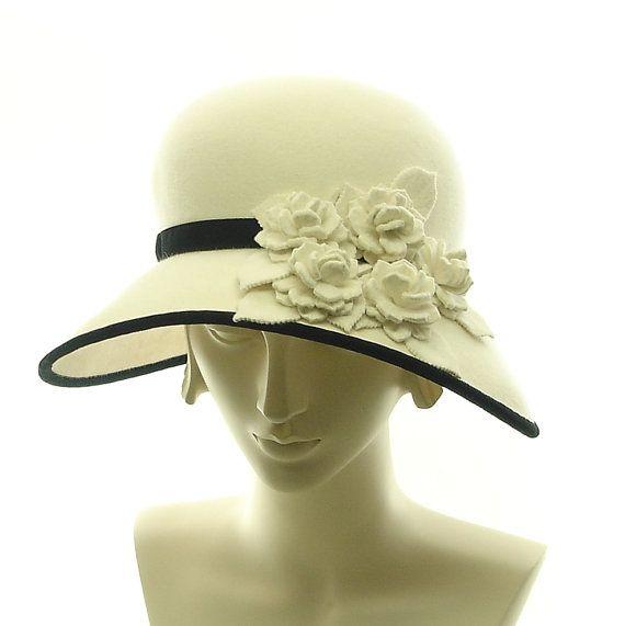 TheMillineryShop                           Marcia Lacher Fashion Hats for Women Vintage Style: Marcia Lacher, Winter White, Vintage Hats, Fashion Hats, Felt Hats, Themillineryshop Marcia, Black Hats, Downton Abbey, Vintage Style