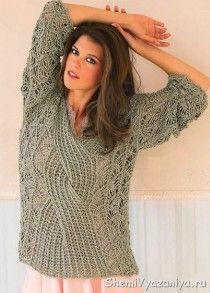 Объемный большой пуловер