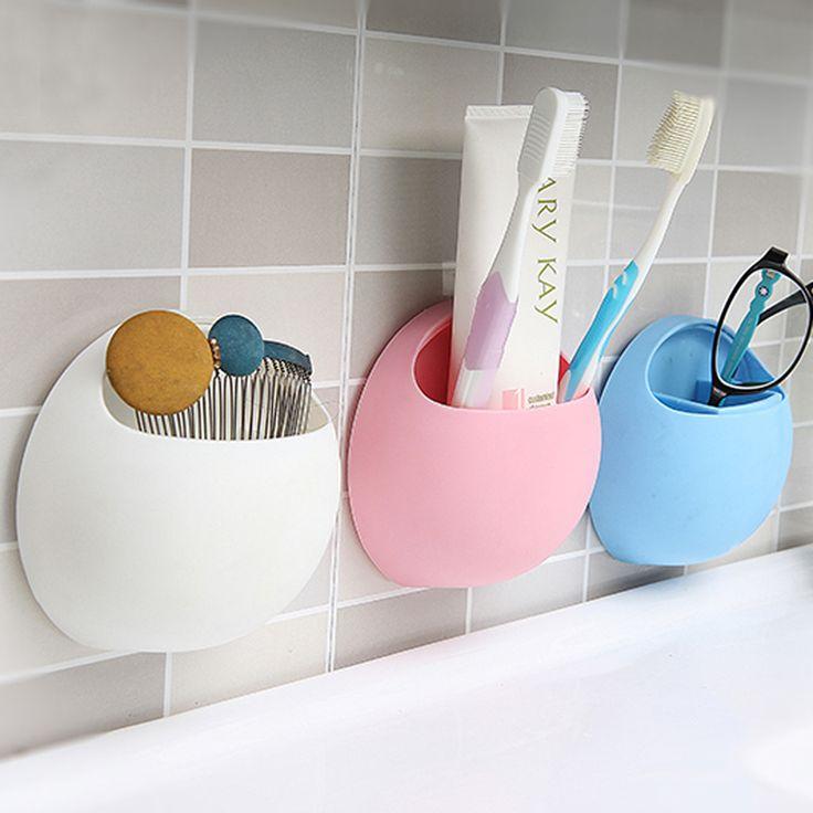Praktische Nieuwe Leuke Eieren Ontwerp Tandenborstel Sucker Houder Zuig Haken Cup Organizer Tandenborstel Rack Badkamer Keuken Opslag Set