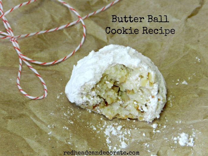 Butter Ball Cookie Recipe What I grew up knowing as Snowballs Also known as wedding cakes