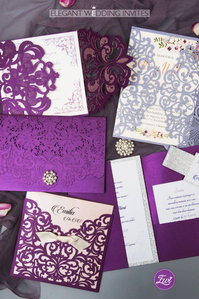 Purple Wedding Invitations By Elegant Wedding Invites Elegantweddinginvites Purple Wedding Invitations Elegant Wedding Invitations Wedding Invitations