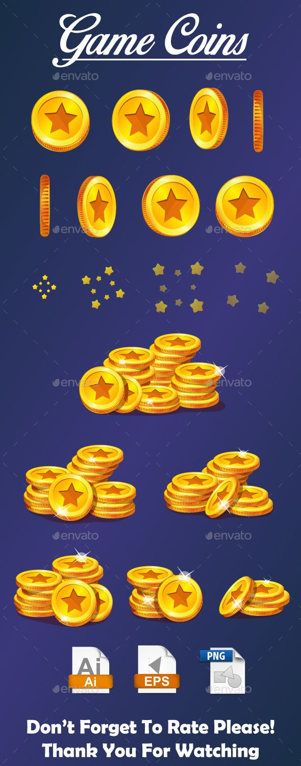 Game Coins GUI Kit Download here: https://graphicriver.net/item/game-coins/19487398?ref=KlitVogli