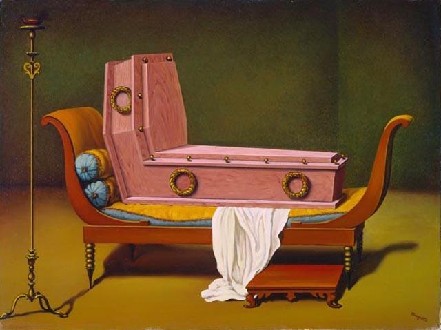 René Magritte ⎈ Madame Récamier de David (c.1951).