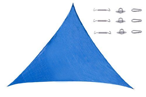 Cool Area Triangle Oversized 16 Feet 5 Inches Sun Shade Sail with Stainless Steel Hardware Kit, Cost-effective UV Block Patio Sail Perfect for Outdoor Patio Garden Swimming Pool (5m X 5m X 5m) in Color Blue Cool Area http://www.amazon.com/dp/B00EH91QDU/ref=cm_sw_r_pi_dp_jRMQtb0G8NRQYTTF