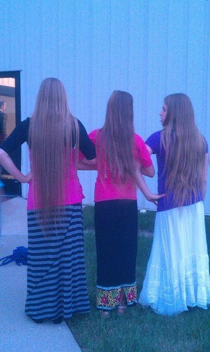 Long blonde hair and long skirts <3  #ModestIsHottest #Apostolic #Pentecostal #LongHair