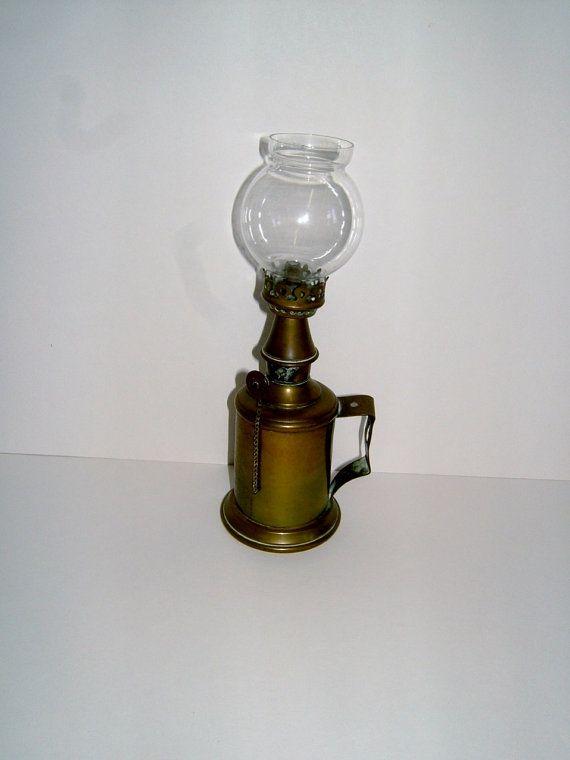Edwardian French Brass Lamp Lampe Pigeon Garantie by BiminiCricket, $135.00