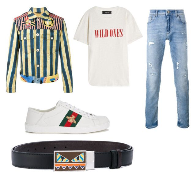 """No Help"" by aintdatjulian on Polyvore featuring Fendi, AMIRI, Dolce&Gabbana, Gucci, men's fashion and menswear"