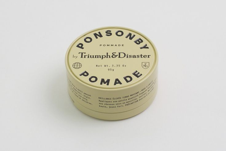 Package design for Ponsonby Pomade from Triumph & Disaster by New Zealand based DDMMYY