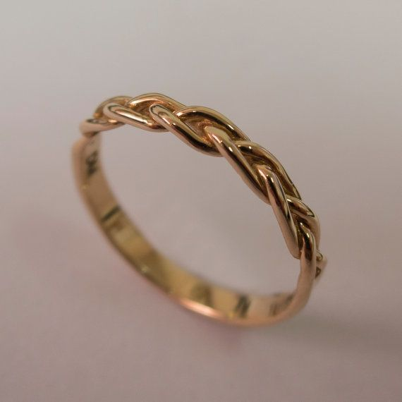 Braided Engagement Ring No.2  14K Rose Gold and by doronmerav