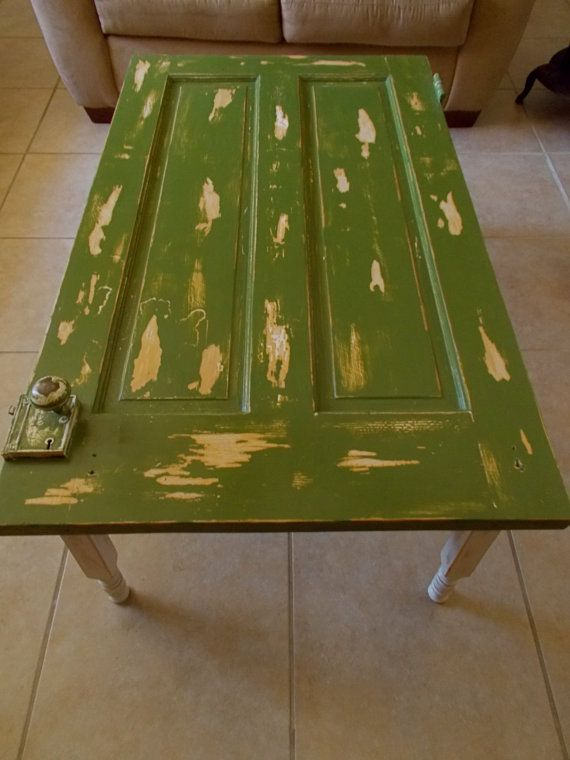 Distressed Vintage Door Coffe Table by CharismaGift on Etsy