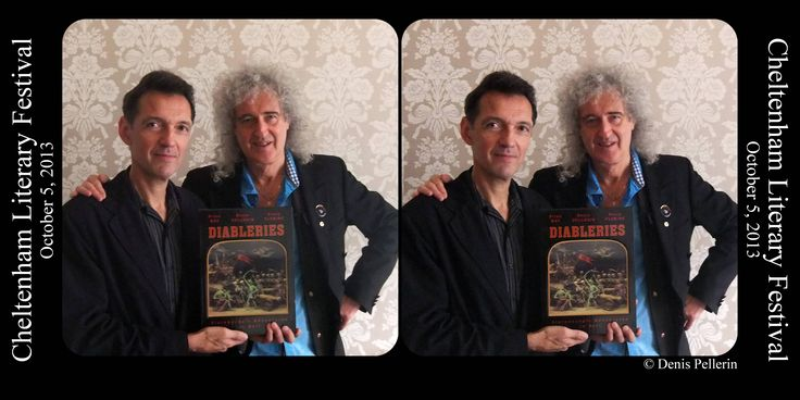 The fantastic authors of Diableries - Brian May and Denis Pellerin - at Cheltenham Literature Festival. Get your stereoscope out and see them in 3D!
